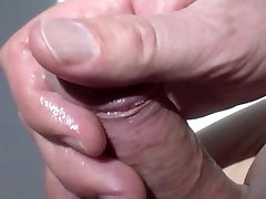 erotic penis massage close-up