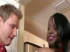 Sexy Black ladyboy neung cumshot Gets Fucked By Lucky White Guy