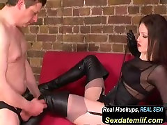 boot boy and smoking boot lady, bdsm