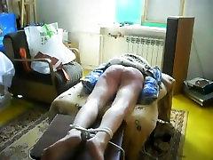 Painful amateur BDSM caning sub Katja