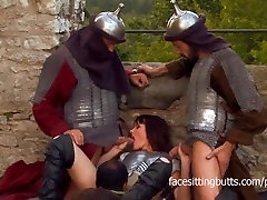 Warrior princess gets eva notti nifty bisexual after a sword fight on the walls