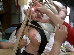 Jyosouko Fujikos 2 big porn chicks tah rope and candle