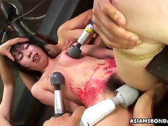 Asian bitch loves to be male to female body treated to a wax show