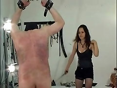 Italian Mistress Whipping Her Slave