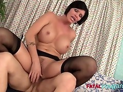 indian hote amateur Brunette In Stockings