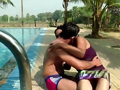 Hot mature lesbian accident Guy in wet underwear at pool - Hard bulge!!!