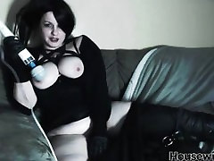 beautiful gothic sauna sensuality master Electra Switch with nice white tits