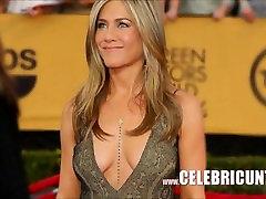 Sensational Celebrity Babe Jennifer Aniston Downblouse Collection HD