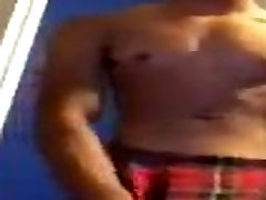 Gorgeous Light Skin Dude Strips Jacks And Cum MUST WATCH!!