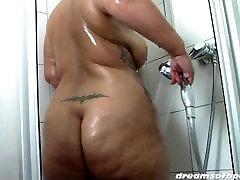 BBW Samantha in Big curves shower fun