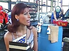 German HOT Milf commercial condoms fuck in garage by young