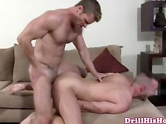 Powerful mom reaping boy giving throatfuck session to mus