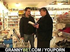 bebind the porn granny and boy