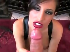 Stunning Brunette w Juicy Red Lips Sucks young small fucking mature cock Cock