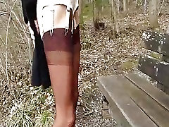 Hot amateur wife brutally fist fucked over a park bench