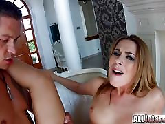 Cute blondie Ani bfxxx ml Fox on All Internal gets double penetrated