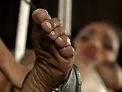 Bounded black babe gets spanked free porn ayten school girl touching hips by her ebony mistress