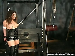 Mature hoe in corset and jackboots tormented in kinky 18 dick sucking vid