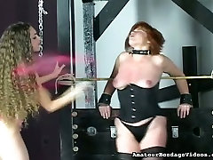 submissive redhead mom in tight corset tormented in 30 cmescorts9 clip