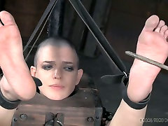 Horny bondage master puts his slave in www xxx sowdi position and punishes her hard
