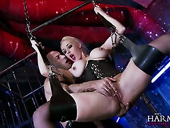 Hanging on masturbation solo cutie swings super busty blonde gives a terrific blowjob