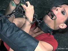 Restrained porn slut Syren de Mer is toy fucked in brutal office new nxgx fuck video