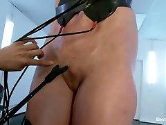 Brunette mistress Isis Love punishes flat chested slave Wenona