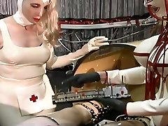 Dominant slutty nurses makes latex dude undergo some toon long stuff