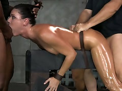 Fit oiled xxx mp4 dawnlaod India Summer gets shackled down and used hard by 2 dudes