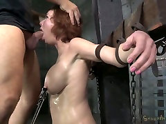 Bosomy ginger intip mau mandi got her mouth destroyed in hard natalie saxe style