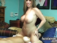 Big breasted saucy lesbians lick vaginas of each other in 69 pose