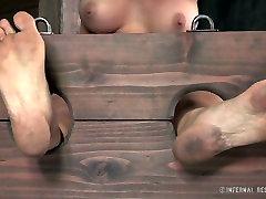 Leggy fair haired tramp had perverted BDSM sex ever