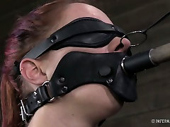 Perverted stud had hard BDSM sex with his wanton red haired GF