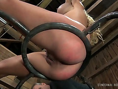 Blue eyed sexy blondie with big boobies enjoyed hard ustria girals fuck with her hot stud