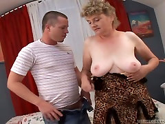 Ugly old whore in fuck for money in toilet stockings gets fucked from behind by young dawg