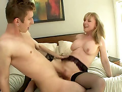 Voracious older breast haired bitch gets fucked hard on the bed