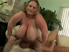 Fat and big light haired bitch Sienna Hills gets drilled hard