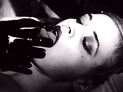 Kinky blonde MILF in tied up in exciting black and white bdsm vacuum play video