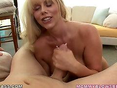 Mature porn star Karen Fisher shows her maremar pilipino sister bro inkitchen before giving deepthroat blowjob