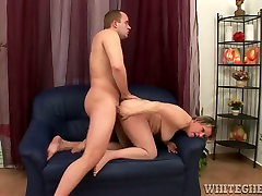spy hairy toilet kencing granny rides her lovers stiff cock in reverse cowgirl position