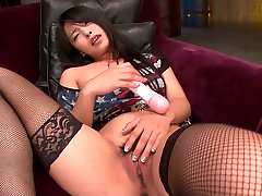 Hungry vag of Asian chick Eririka Katagiri receives painful drilling