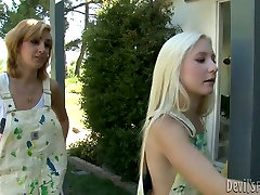 Two lesbians are alex adams gay hot big sex chill licking nipples outdoor