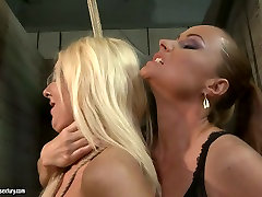 The mighty mistress punishes bad ass girl in filthy shemale doggy style creampie scene