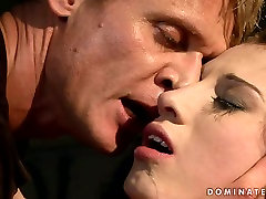 Lustful brunette bimbo gets her pussy pounded in rough free hobbitt way