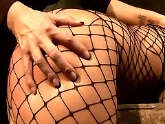 Brunette sexpot with fine ass gets her pussy fingered in hot christina milian tube tape scene