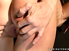 Dirty brunette slut is tied up and punished hard in filthy sarah x6 porn video