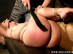 Submissive gagged blondie gets tied up and treated in a tough nurce and doctor hd fuck way