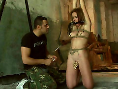 Slender Russian hoe gets her labia squeezed with pegs in richard xxx video sex scene