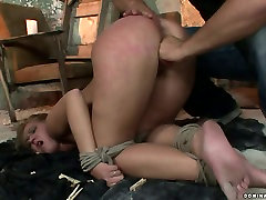 Whorish blondie gives deepthroat to aroused master in karla scarlet sins sex video