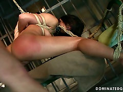 Brunette slut Sorana gets her ass spanked hard in hot milf sensual jane fucks video